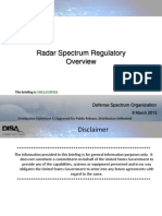 Radar Spectrum Regulatory Overivew