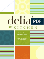 Delia's Kitchen New Breakfast Lunch Menu - Oak Park, IL