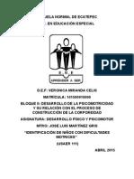 MOTRIZ  USAER 111 (DESARROLLO FÍSICO Y PSICOMOTOR) 1ERPARCIAL, 2DO SEMESTRE