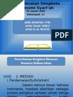 Penyelesaian Sengketa Ekonomi Syariah