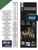 Programa Sacro 2015 Coros Municipales de Guatemala