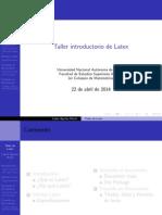 Taller introductorio de LaTex