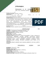 Ficha Tecnica Test Psicologicos