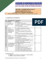 Listado de Competencias y Subcompetencias