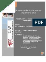 Limite Liquido - Lv Titulacion - Vias de Transporte