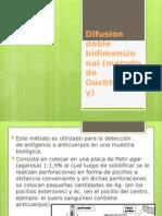 Difusión Doble Bidimensional (Método de Oüchterlony)