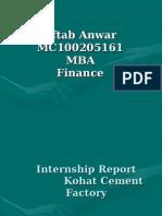 Kohat Cement Company , Presentation Slides Mc100205161