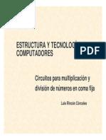 Estructura y tecnología de computadores.