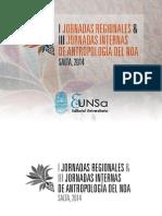 1ºJornadas Regionales y 3º Internas de Antropología del NOA