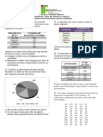 Exercícios - Estatística