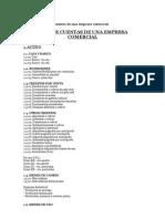 Modelo de Plan de Cuentas de Una Empresa Comercial