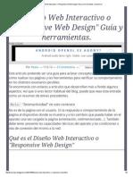 Diseño Web Interactivo o _Responsive Web Design_ Guía y Herramientas
