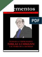 Revista Elementos 72 [Niklas Luhmann]