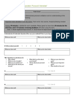 mock interviews 2 feedback form for participants