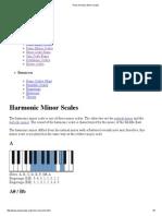 Piano Harnonic Minor Scales