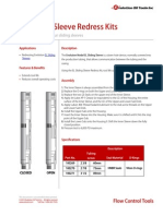 EL Sliding Sleeve Redress Kit Product Datasheet