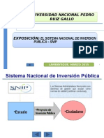 Exposicion Sistema Nacional de Inversion Publica