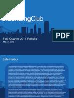 Lending Club Q1 2015 Financial Results