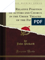 The Relative Position of Actors and Chorus in the Greek Theatre of the 1000727686