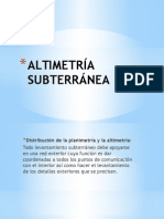 ALTIMETRÍA SUBTERRÁNEA
