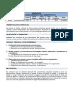Plan Análisis y diseño de estructuras administrativas
