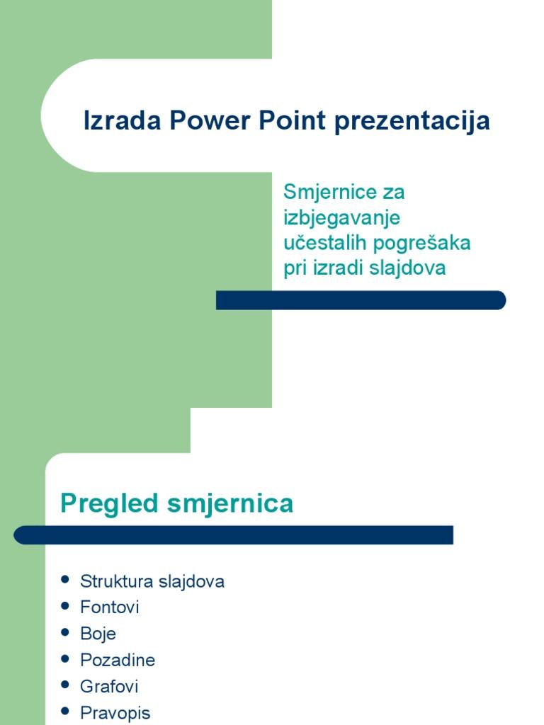 Oblikovanje Prezentacije U Power Pointu