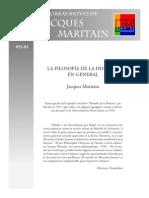 j.m Obras Breves Humanismo Filosofía de La Historia