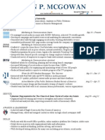 Sean McGowan_Resume Q1 2015