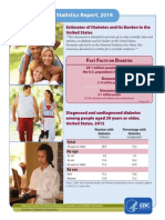 2014 Report Estimates of Diabetes and Its Burden in the United States