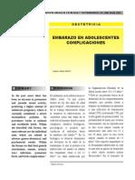Riegos Clinicos en El Embarazo Adolescente Revista