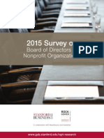 2015 Survey on Board of Directors of Nonprofit Organizations