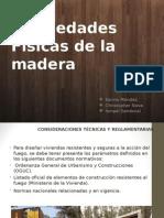 Propiedades Combustibles de la Madera, Reaccion ante las Sales, Y Propiedades Acusticas de la Madea