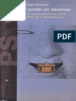 BALANDIER, Georges, El Poder en Escenas de La Representacion Del Poder Al Poder de La Representacion