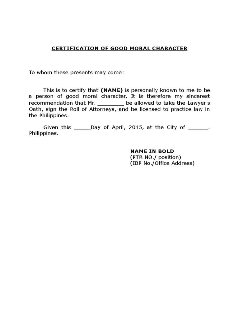 Affidavit Of Good Moral Character Sample Letter from imgv2-1-f.scribdassets.com