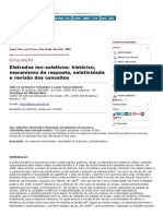 Química Nova - Ion-selective Electrodes_ Historical, Mechanism of Response, Selectivity and Concept Review