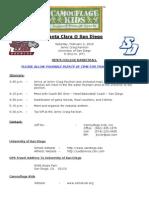 Camouflage Kids - Santa Clara @ San Diego Basketball Itinerary - 2-6-10