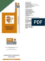 Guia de Capacitacion Elaboracion de Programas de Capacitacion