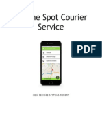 on the spot currier service business report