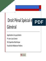 Droit Pénal Spécial Et Général DC Pr J.L.senon