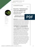 """Resenha_ """"Globalização_ Novo Paradigma Das.."""