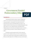 issue brief postsecondary education