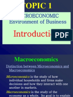 IILM - Macroeconomics-Environment of Business