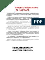 Mantenimiento Preventivo Al Hadware