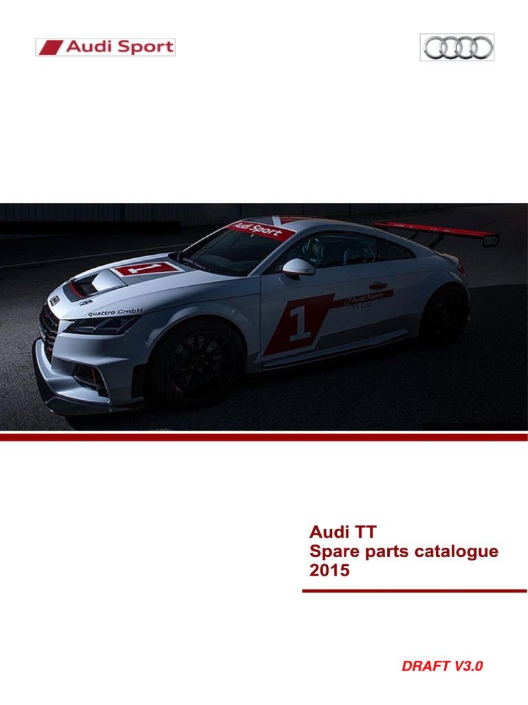 Audi Sport TT Cup Parts Catalogue   Turbocharger   Brake
