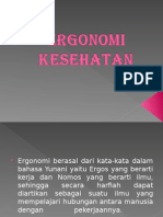 POWER POINT ERGONOMI KESEHATAN