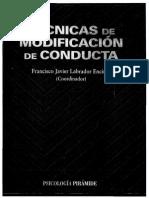 Tecnicas Modificacion de La Conducta