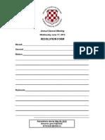 notice of  resolution form 2015