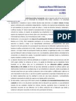 Comunicado Público FERD Concepción Ante Segunda Vuelta Elecciones FEC 2015