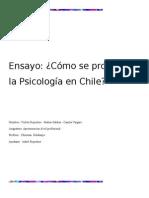 Ensayo Cómo Se Proyecta La Psicología en Chile