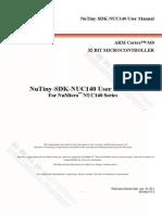 Nutiny-sdk-nuc140 User Manual en v1.0